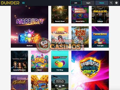 Dunder beste online casino
